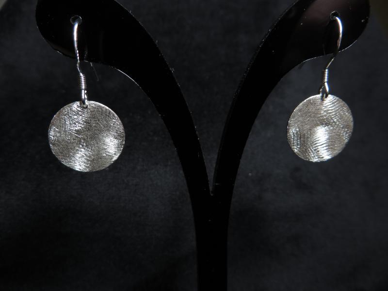 Runde Ohrringe aus Silber