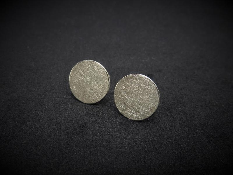 Ohrstecker matt Silber