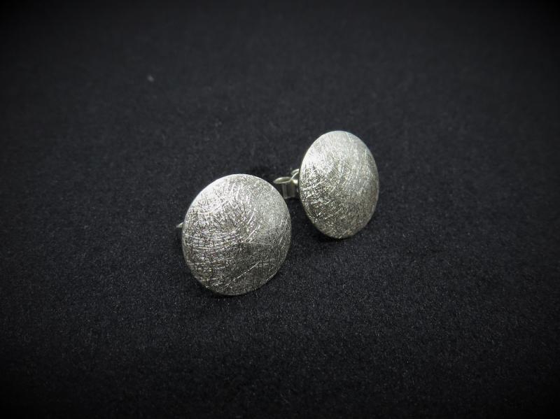 Ohrstecker rund Silber