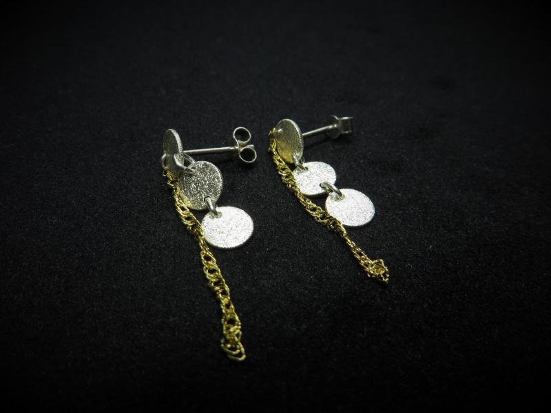 Hängende Ohrstecker aus Silber