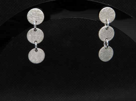 Mehrteilige Ohrstecker aus Silber