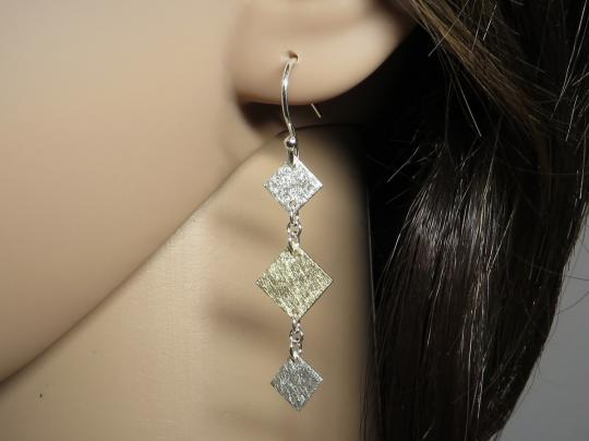 Ohrringe 333 Gold / 925er Silber
