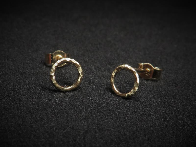 Ohrringe Kreis Gold