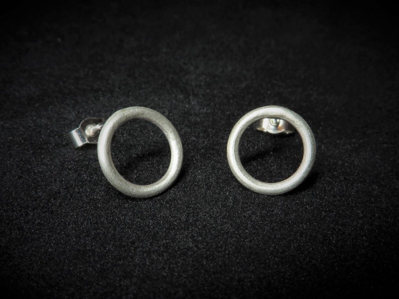 Ohrringe Kreis Silber