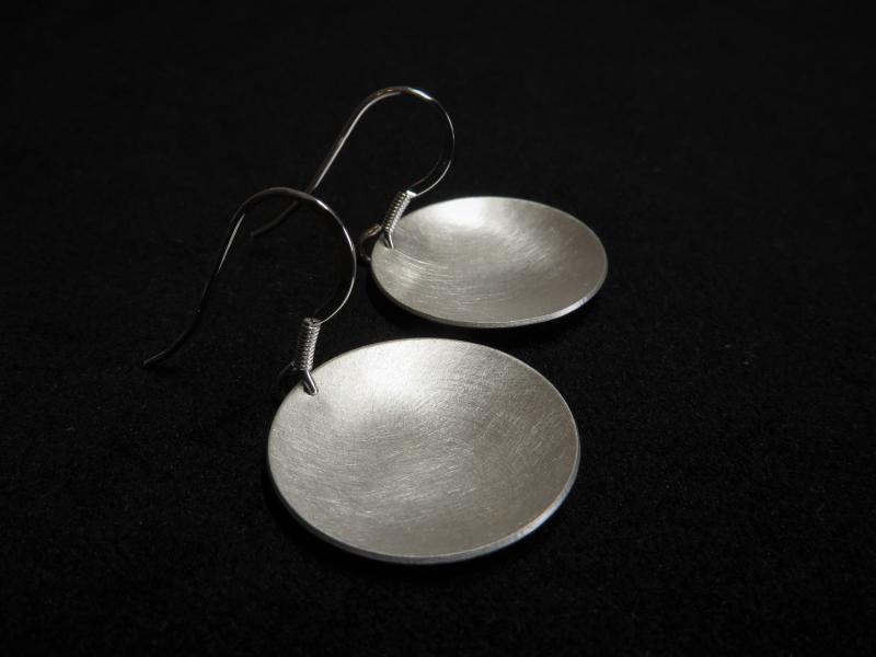 Ohrringe Silber matt gebürstet