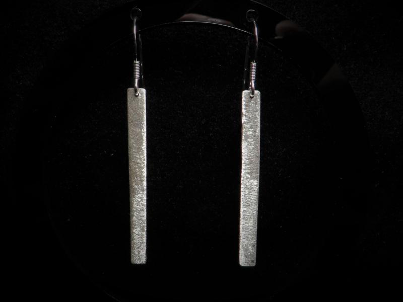 Stab Ohrringe Silber