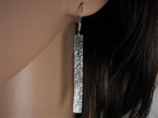 Ohrringe Stab gehämmert