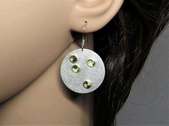 Ohrringe zweifarbig