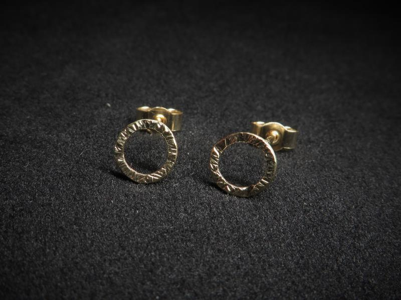 Ohrstecker gold rund