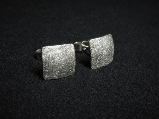 Quadratische Ohrringe Silber