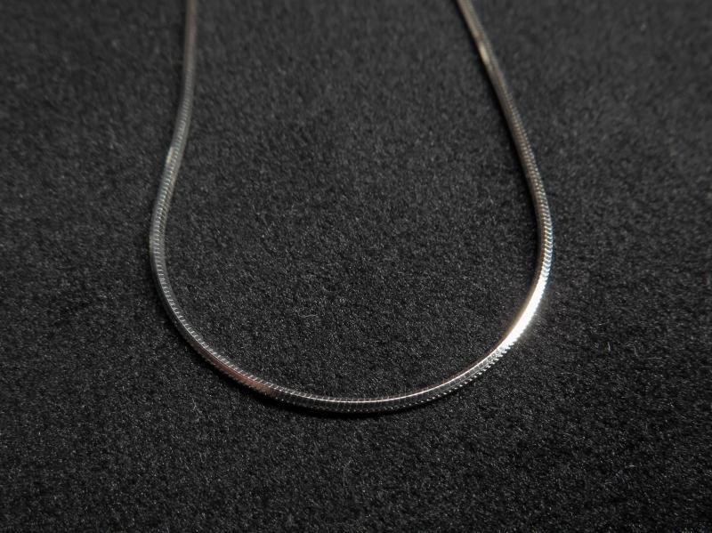 Schlangenkette 925 Silber rhodiniert