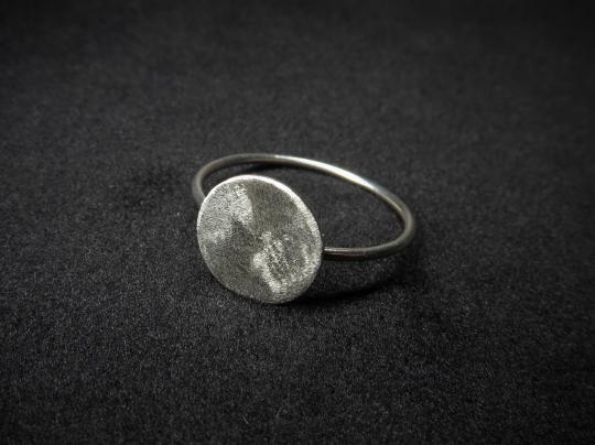 Silberring Scheibe